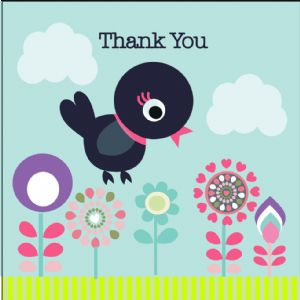 Thank You Card - Bird